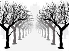 复古的树图的背景