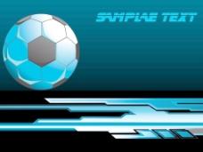足球在黑色的背景