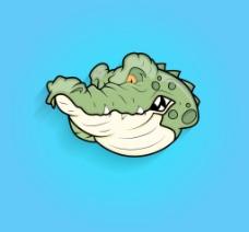 愤怒的鳄鱼的表情图片