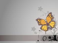 花与蝴蝶背景