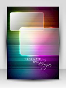 彩色背景的创意传单设计