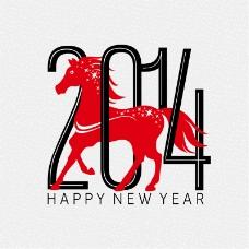 2014红马新年海报矢量素材