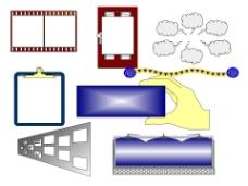 白色PPT精品图形素材模板
