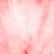 明亮发光的粉红色玻璃背景与艺术立方体或广场