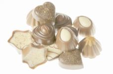 巧克力糖果 孤立在白色的背景