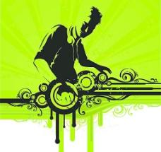 玩音乐的DJ图片