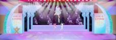 回族舞蹈舞台效果图图片