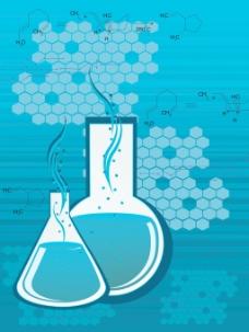 与实验室瓶化学式背景
