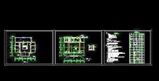 2层小型居住楼排水平面设计图