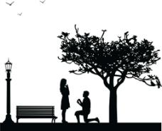 情侣人物图标图片