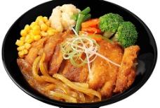 咖喱鸡排丼饭图片