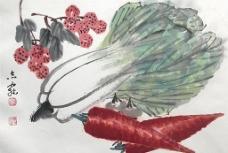 国画小品 蔬菜图片