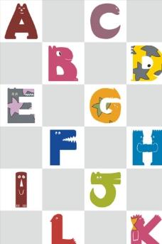 移门方格英文字母图片