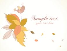 秋天的花卉背景矢量插画