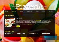 黑色全屏交互式美食西餐店html5模板