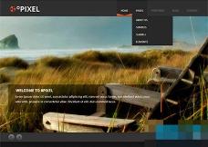 黑色宽屏大图幻灯扁平化HTML5模板