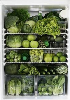 冰箱里的蔬菜图片