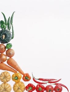 纯背景的艺术蔬菜图片