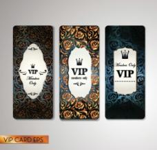 矢量奢华金色VIP卡片图片