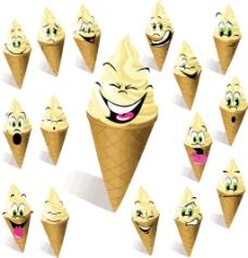 圆筒冰淇淋
