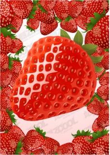 草莓创意矢量素材
