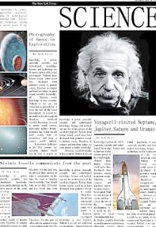 科学报纸图片