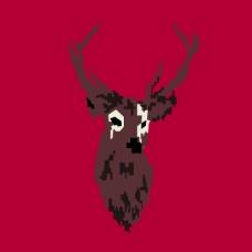 印花矢量图 动物 麋鹿 毛衫图案专题 女装 免费素材