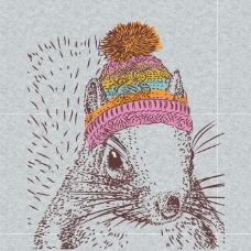 印花矢量图 卡通 动物 松鼠 生活元素 免费素材
