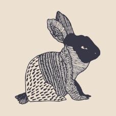 印花矢量图 填充面料 动物 兔子 女装 免费素材
