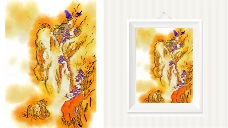 山水装饰挂画设计