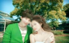 情侣特写图片