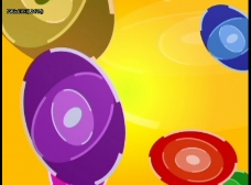 七彩椭圆动态视频效果