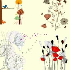 韩国手绘高清花卉