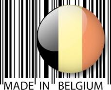 在比利时的条码矢量插画