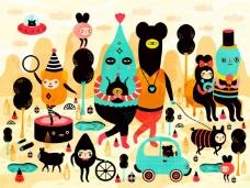 位图 插画 插画师 personal 艺术效果 免费素材