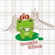印花矢量图 卡通 卡通动物 青蛙 卡通静物 免费素材
