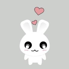 印花矢量图 可爱卡通 卡通动物 兔子 几何 免费素材