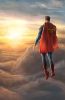 位图 可爱卡通 卡通人物 超人 色彩 免费素材