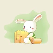 印花矢量图 可爱卡通 卡通动物 兔子 卡通静物 免费素材