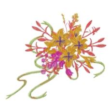 绣花 植物图案 花朵 高清 免费素材