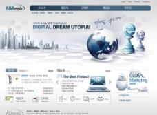 国际网络科技营销网页模板