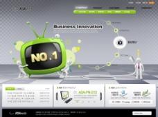 创新商务产品演示网页模板