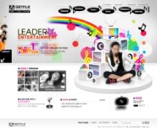 炫彩音乐主题网页设计图片