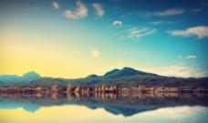 湖光山色图片