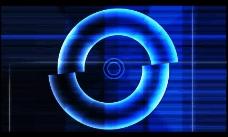 蓝色光环视频特效