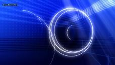 蓝色绚丽光环LED高清视频