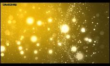 橙色粒子飘飞特效视频