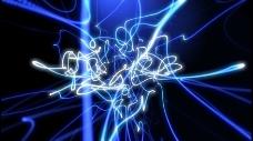 蓝色绚丽线条高清视频素材