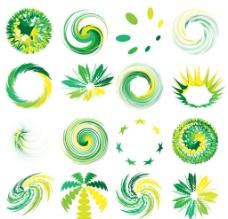圆圈自然logo 抽象简图片