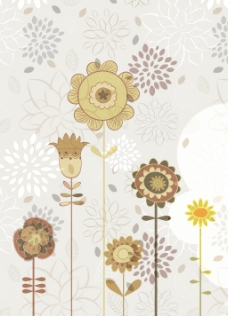 摘要花卉背景矢量插画